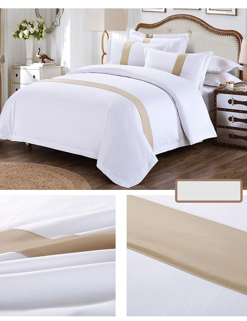 Double Soft White Polycoton Hôtel Collection Literie Vente Four Seasons